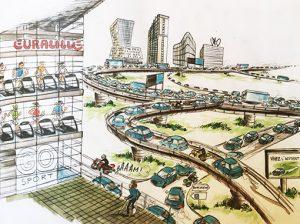 Le ville qui ne dort jamais, dessin de Vito