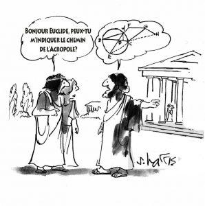 Bonjour Euclide, peux-tu m'indiquer le chemin de l'acropole?