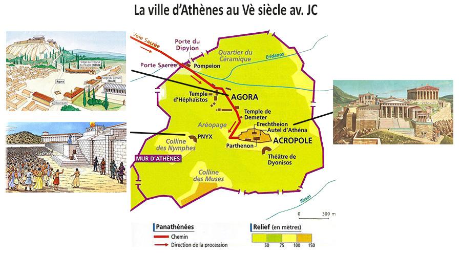 La ville d'Athènes pendant la démocratie au 5è siècle av. JC