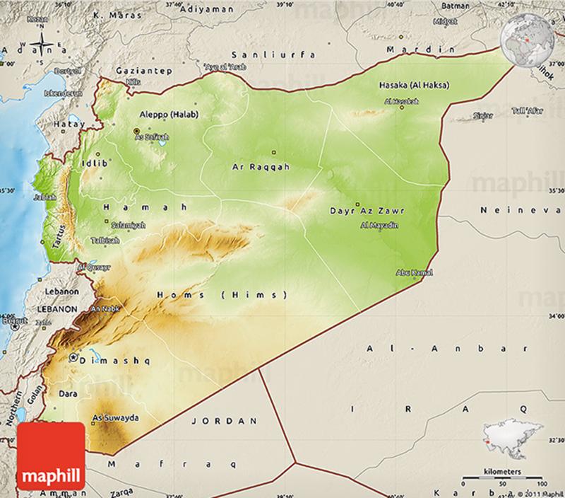 Relief de la syrie