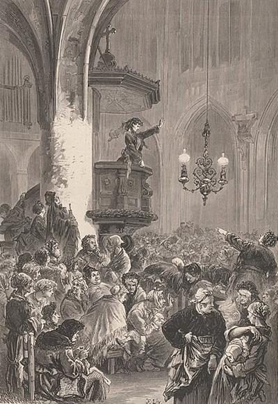 Une séance du Club des femmes dans l'église Saint-Germain-l'Auxerois par Frédéric Lix